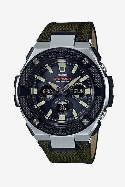 G Shock G-Steel Mid Size Cordura Stain Steel/Army