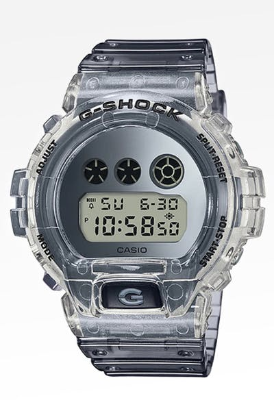 G Shock DW-6900SK-1 80's Skeleton Series Trans/Grey