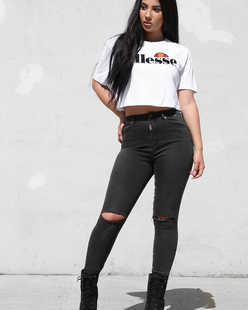 Ellesse Abriana Cropped Tee White