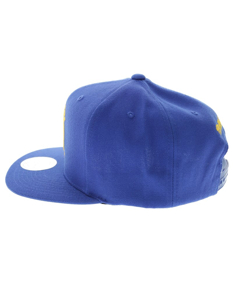 Mitchell & Ness GS Warriors Wool Solid Snapback Royal Blue