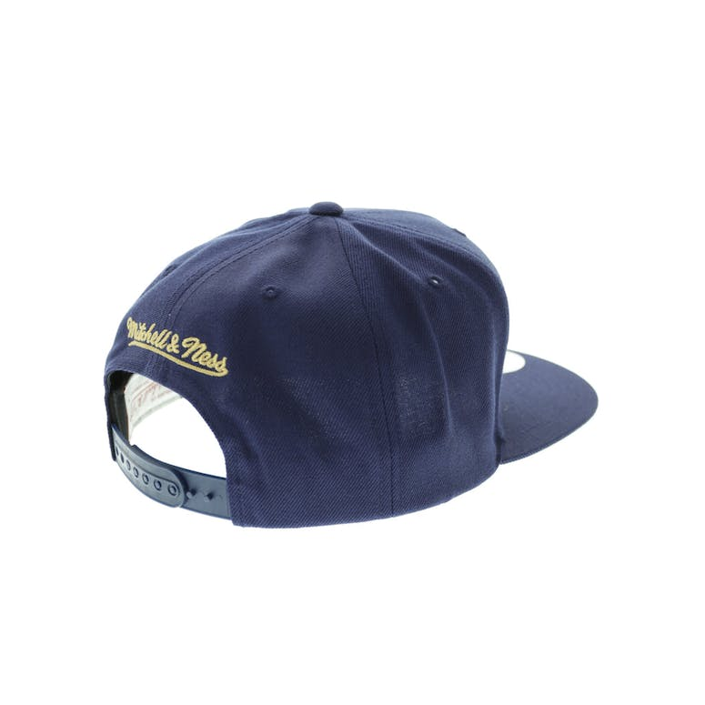 premium selection b1102 d20fb Mitchell   Ness New Orleans Pelicans Wool Solid Snapback Navy Green