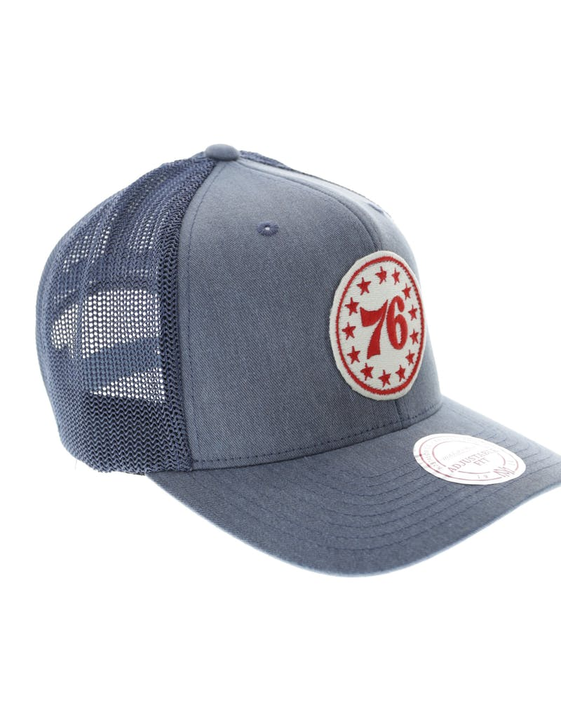 Mitchell & Ness 76ers Washout 110 Trucker Blue