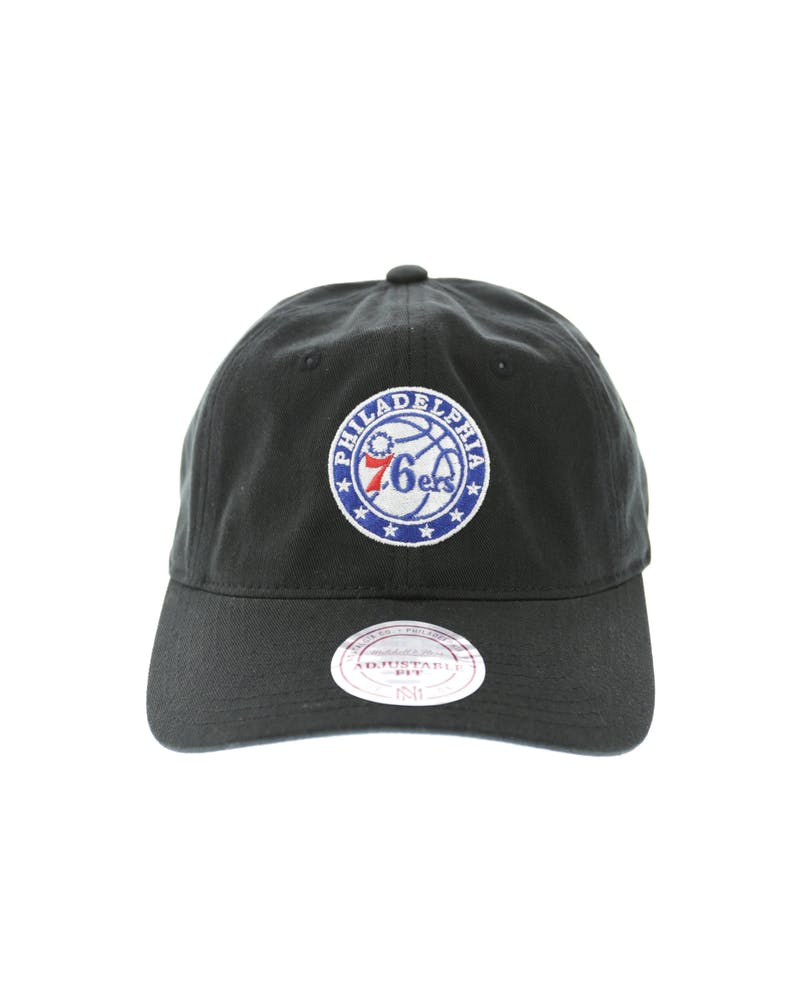 Mitchell & Ness 76ers Cotton Strapback Black