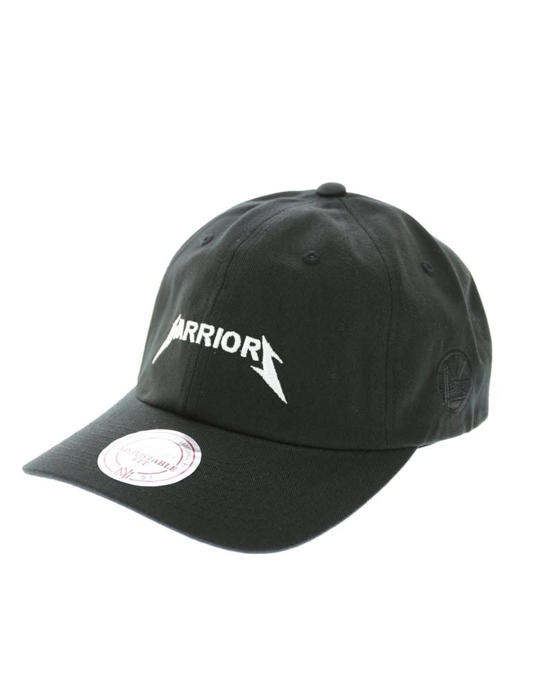 Mitchell & Ness Warriors Rock Font Dad Hat Black
