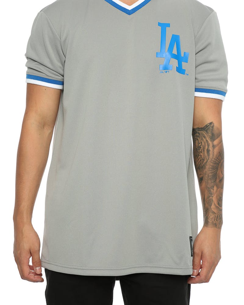 Majestic Athletic Dodgers Kabor V Neck Jersey Grey