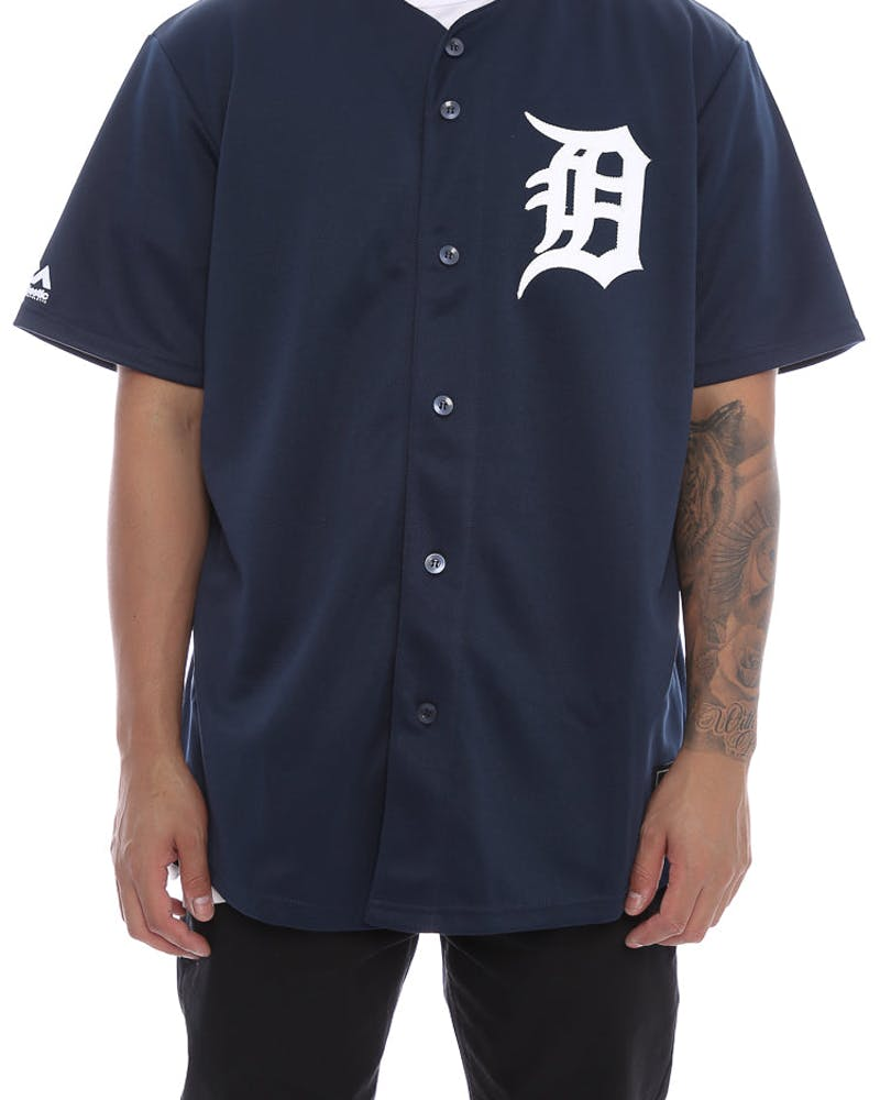 Majestic Athletic Tigers Replica Jersey Navy