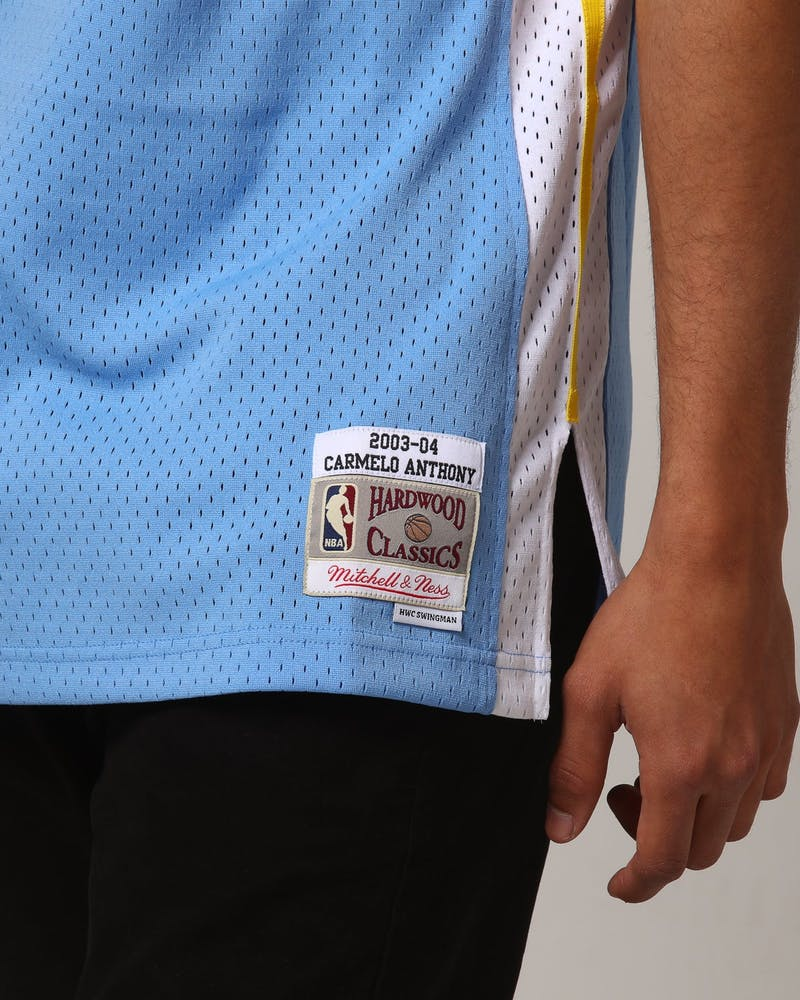 Mitchell & Ness Denver Nuggets Carmelo Anthony #15 NBA Jersey Sky Blue