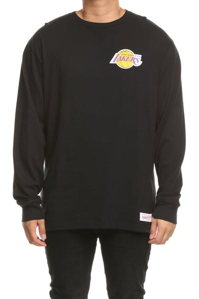 Mitchell & Ness Lakers Triple Double Long Sleeve Black