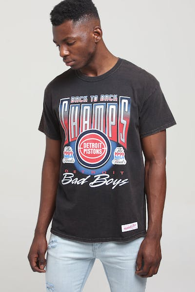 Mitchell & Ness Detroit Pistons Vintage Champ Tee Black