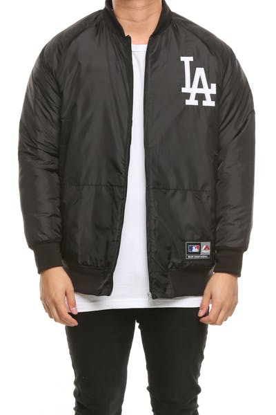 Majestic Athletic Los Angeles Dodgers Adswood Satin Jacket Black