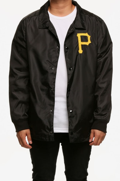 Majestic Athletic Pittsburgh Pirates Russo Coach Jacket Black