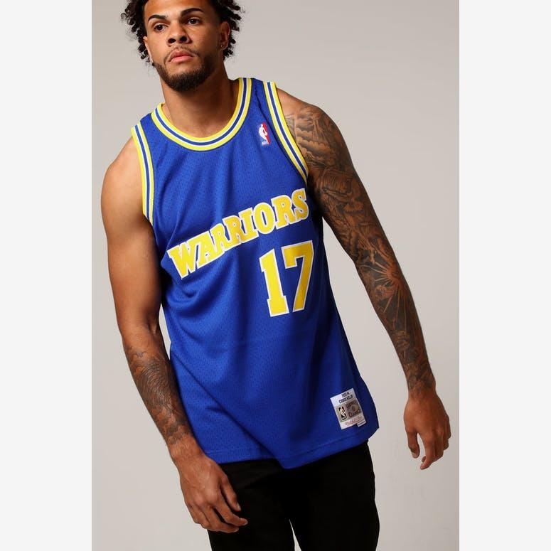 cda95f36189e Mitchell   Ness Golden State Warriors Chris Mullin  17 NBA Jersey Royal