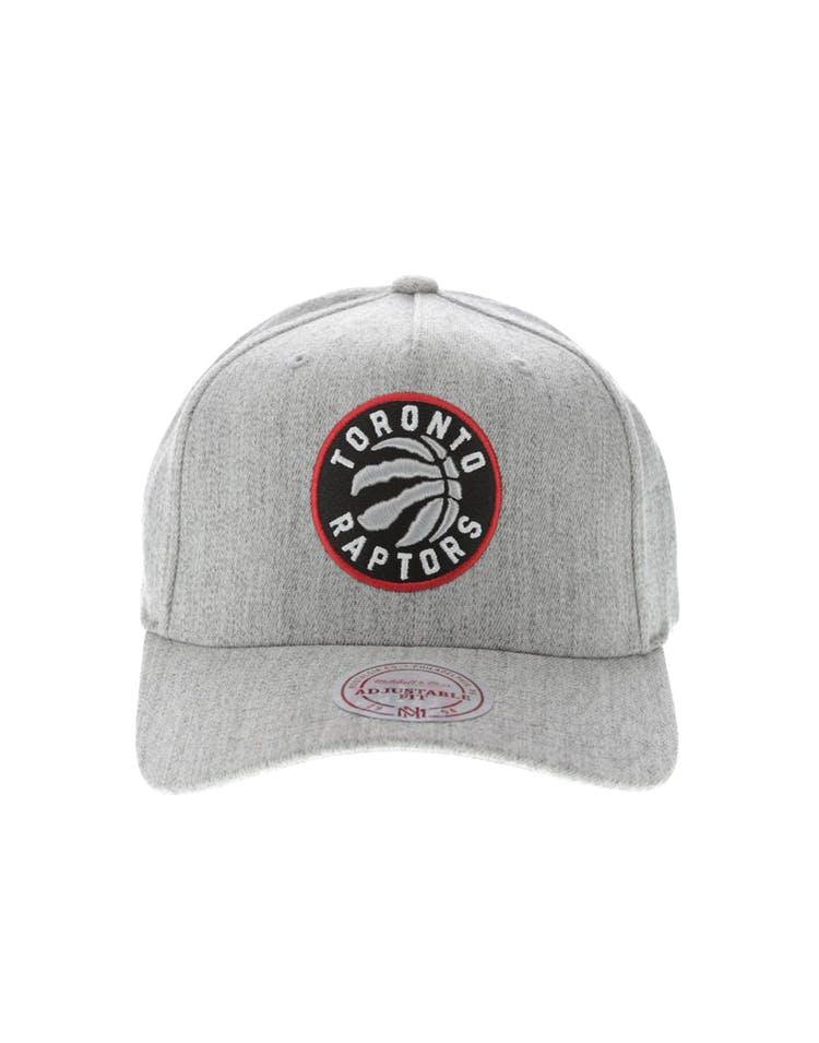 huge discount 09bf3 f2cf0 Mitchell   Ness Toronto Raptors Pinch 110 High Crown Snapback Heather Grey