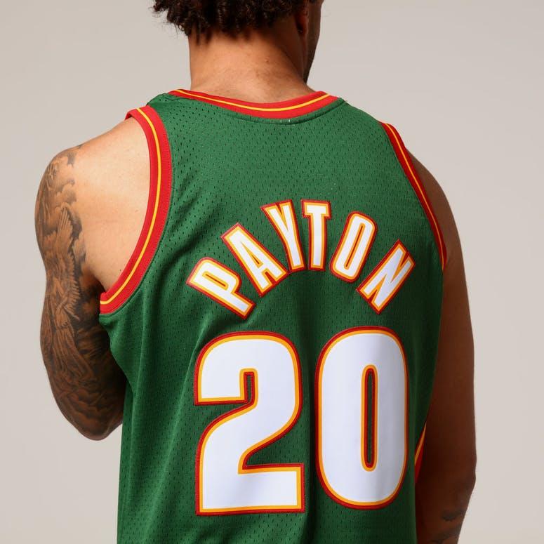 Mitchell   Ness Seattle Supersonics Gary Payton  20 NBA Jersey Green ... bad770f42