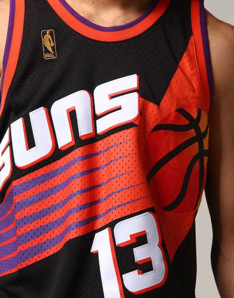 newest 58462 a7208 Mitchell & Ness Phoenix Suns Steve Nash #13 NBA Jersey Black
