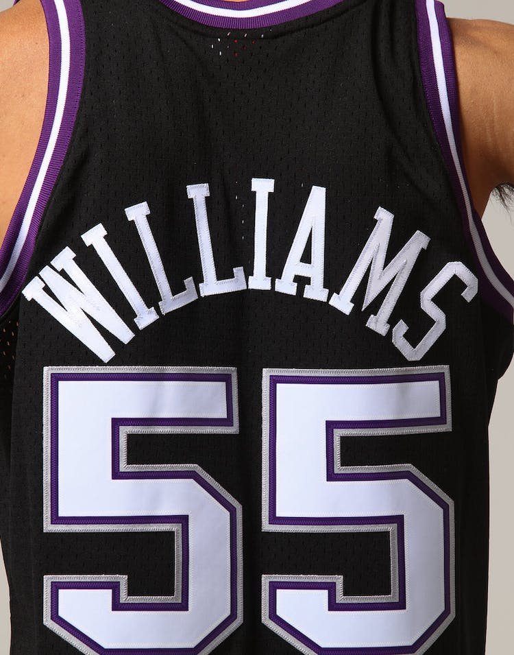 sale retailer 1bc56 3b199 Mitchell   Ness Sacramento Kings Jason Williams  55 NBA Jersey Black