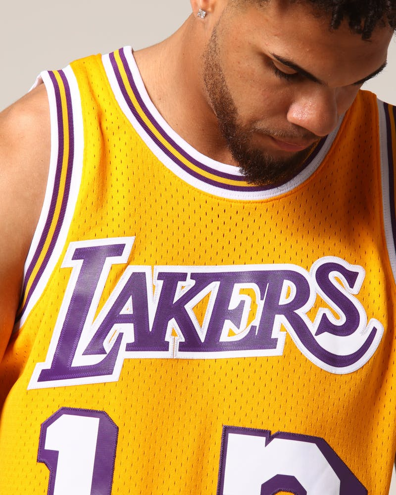 Mitchell & Ness Los Angeles Lakers Wilt Chamberlain #13 NBA Jersey Yellow