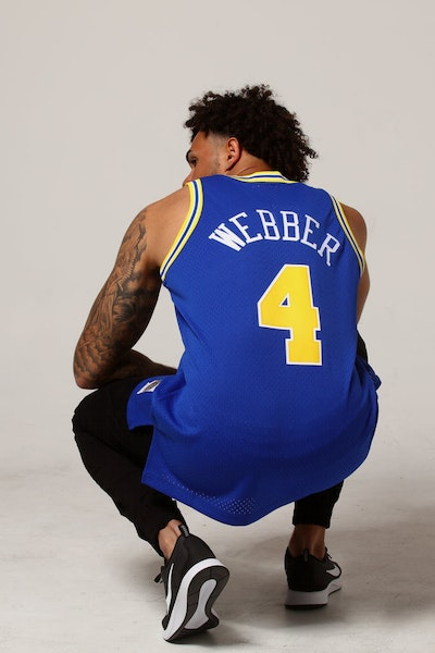 Mitchell & Ness Golden State Warriors Chris Webber #4 NBA Jersey Royal