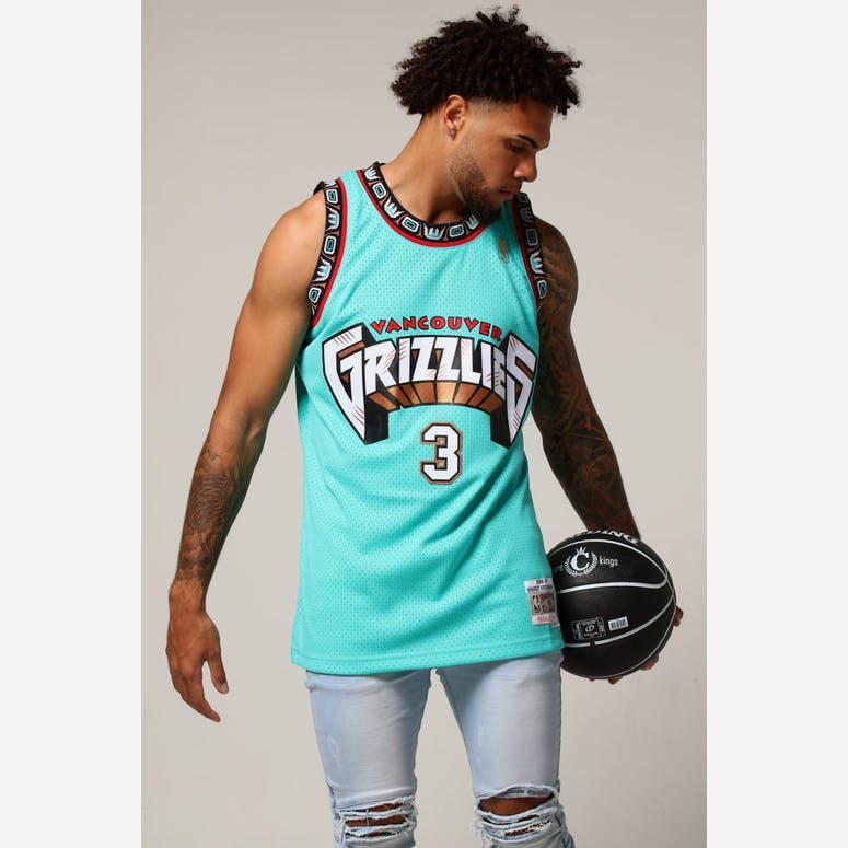 2e735a19d23 Mitchell   Ness Vancouver Grizzlies Shareef Abdur-Rahim  3 NBA Jersey Aqua