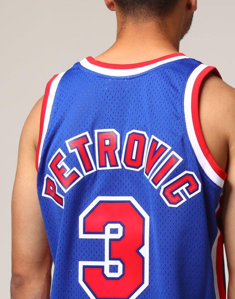 competitive price e8f31 26f72 Mitchell & Ness New Jersey Nets Dražen Petrović #3 NBA Jersey Royal