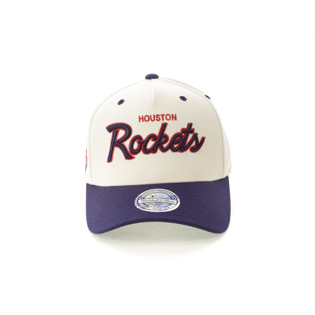 6d516b60720 ... coupon for mitchell ness houston rockets script 110 snapback white navy  be8a7 06e89 ...