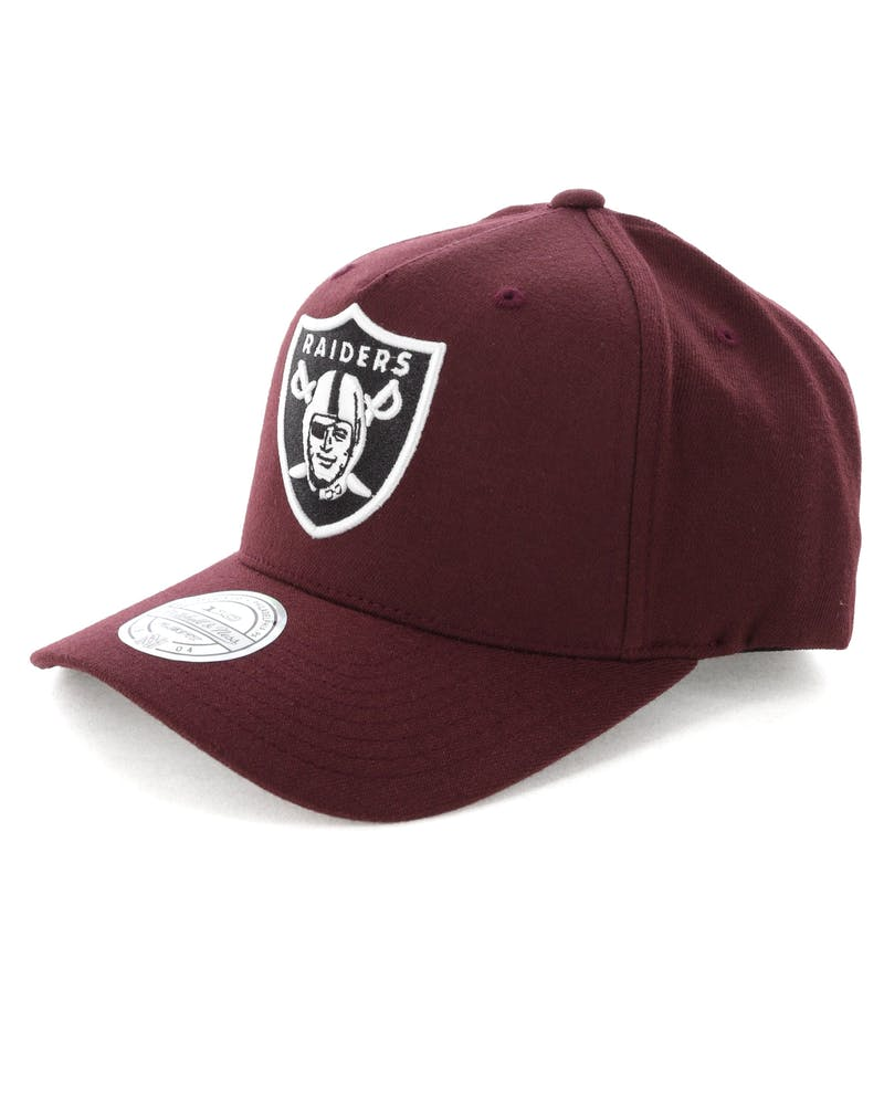 Mitchell & Ness Raiders Pinch 110 Snapback Burgundy
