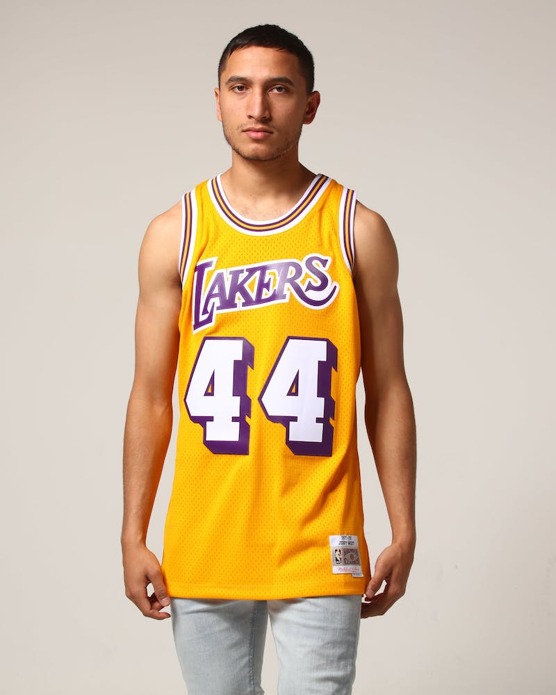 Mitchell & Ness Los Angeles Lakers Jerry West #44 NBA Jersey Yellow