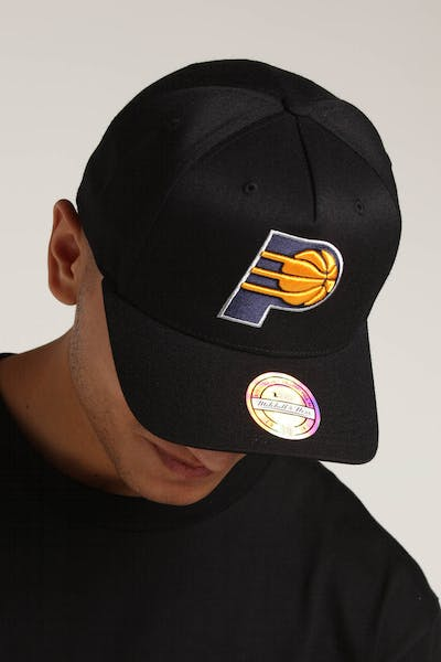 a11bc6fd Mitchell & Ness Indiana Pacers 110 Pinch Snapback Black/Yellow ...