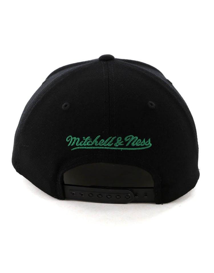 ff89ab7c Mitchell & Ness Boston Celtics Jersey Logo 110 Snapback Black/Green ...