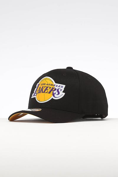 09bc12d08c21c Mitchell   Ness Los Angeles Lakers Chrome Logo Snapback Black