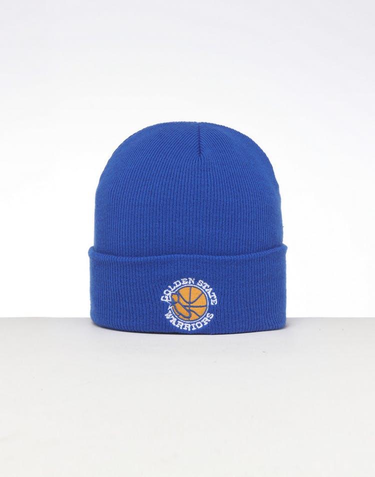4c7dfc8bef5c9a Mitchell & Ness Golden State Warriors HWC Logo Knit Beanie Royal/Blue