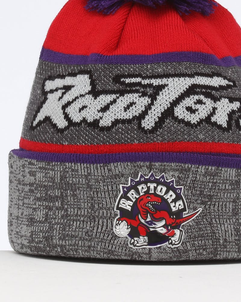 Mitchell & Ness Toronto Raptors Team Knit Beanie Black/Purple