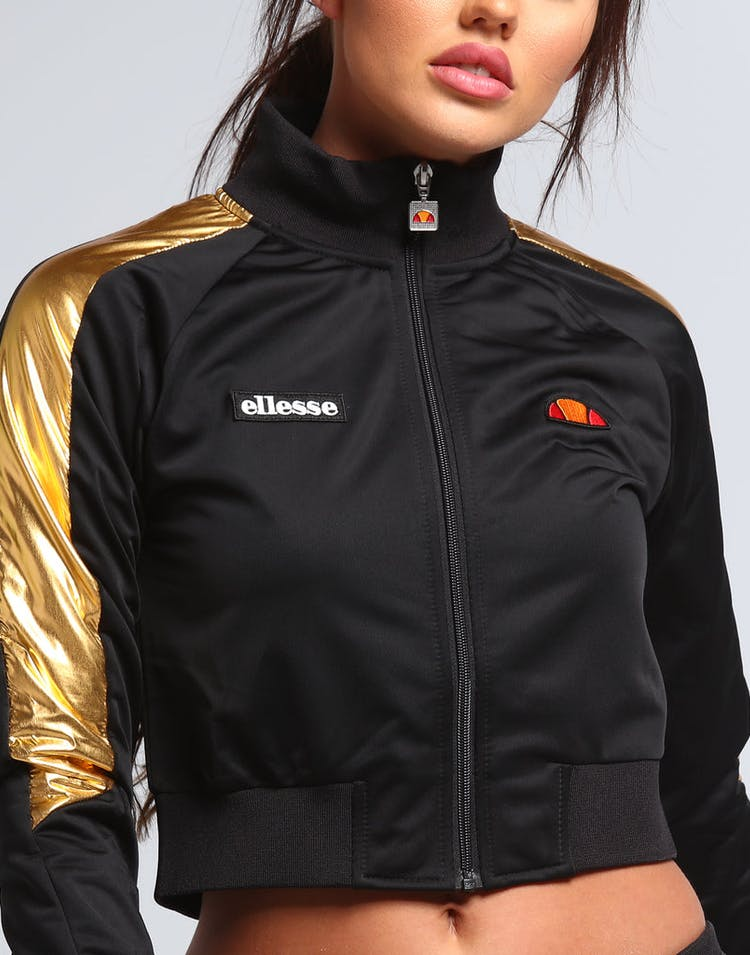 Ellesse Women's Ninad Crop Track Top Black/Rose Gold