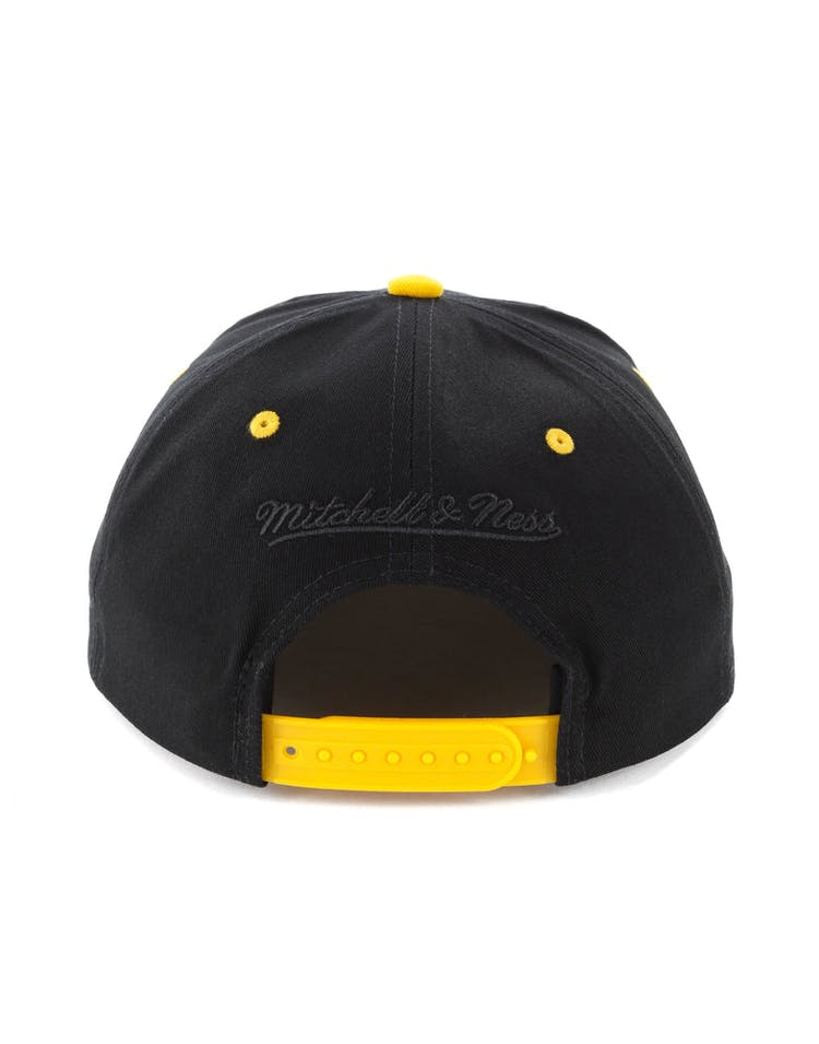 ef1e8934debe20 Mitchell & Ness Los Angeles Lakers Horizon Snapback Black/Yellow ...