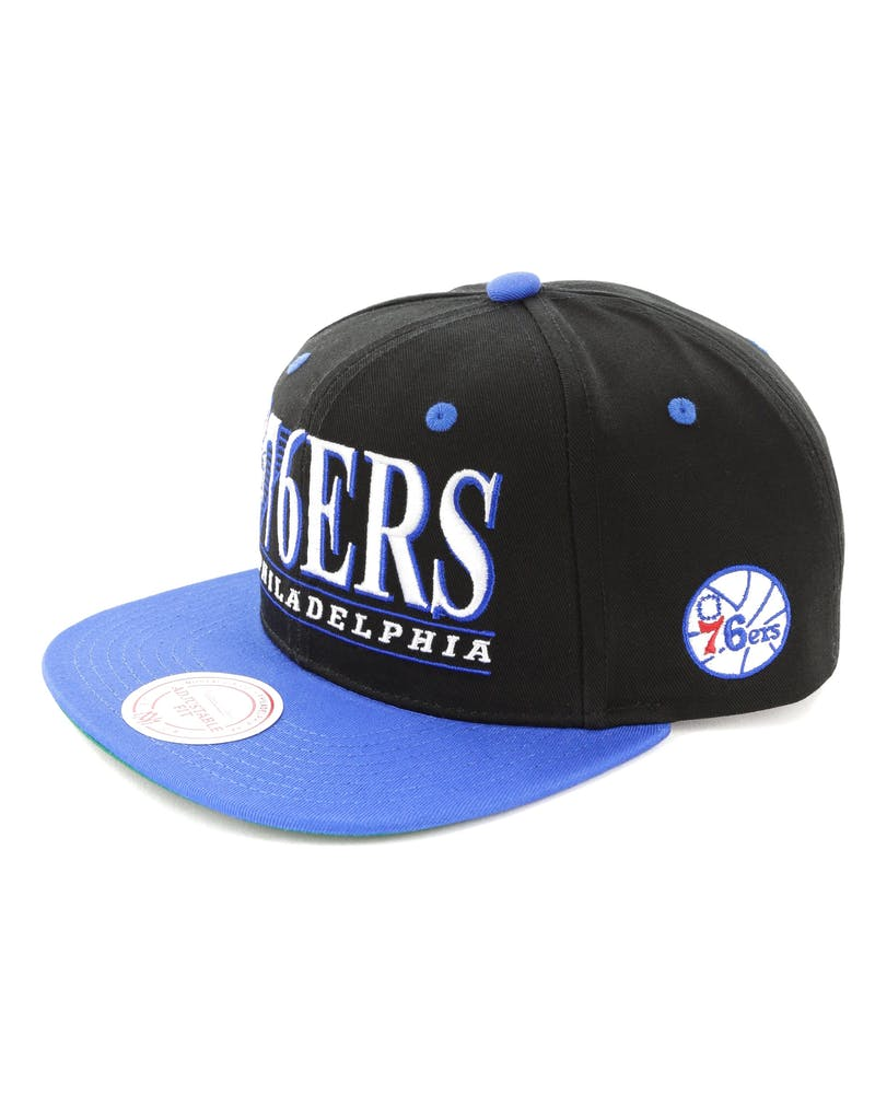 Mitchell & Ness Philadelphia 76ers Horizon Snapback Black/Royal