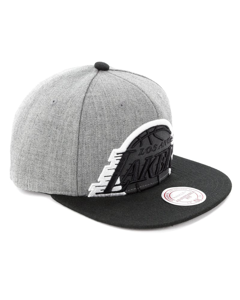 Mitchell & Ness Los Angeles Lakers Crop XL Snapback Grey