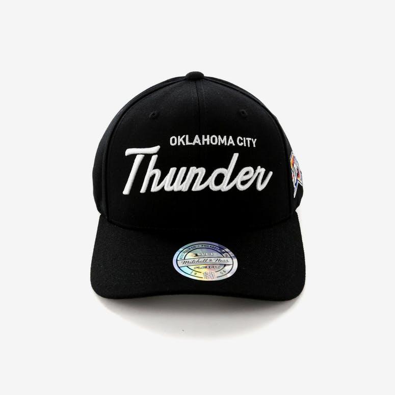 Mitchell   Ness Oklahoma City Thunder 110 Team Script Snapback Black ... e4696e45bc8