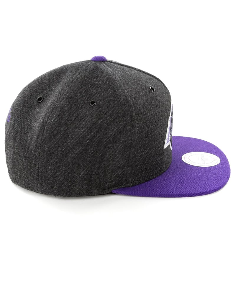 Mitchell & Ness Los Angeles Lakers Woven Reflective Snapback Charcoal/Purple