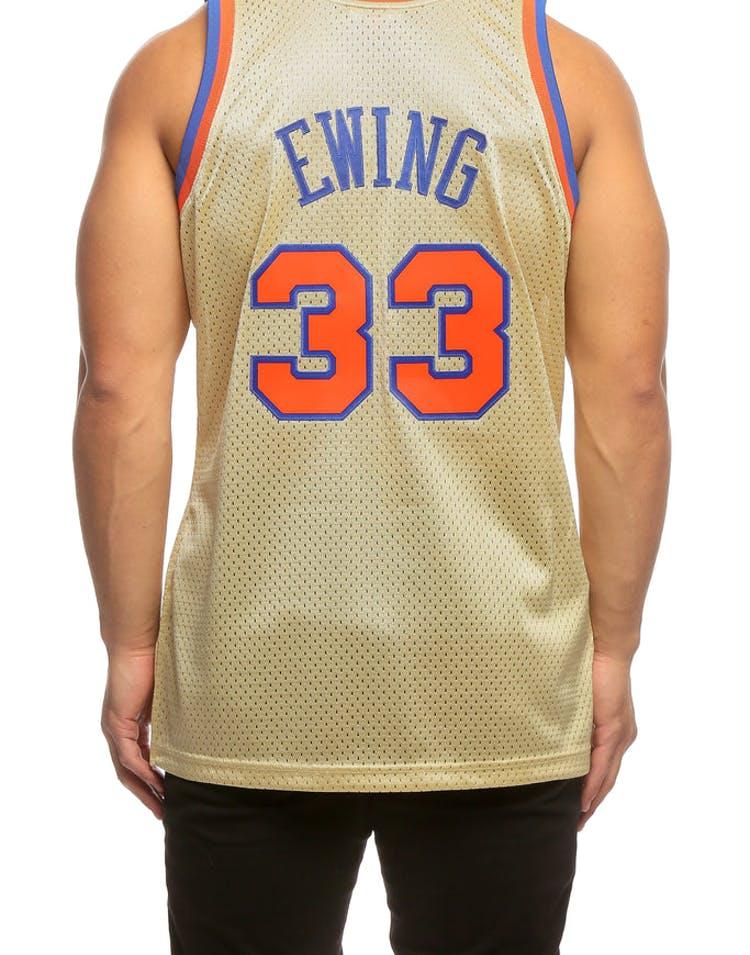 11fc7a14115 Mitchell & Ness Patrick Ewing Swingman Jersey Gold – Culture Kings NZ