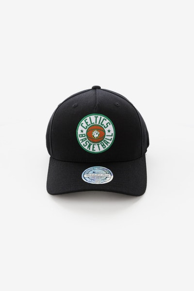 Mitchell & Ness Boston Celtics Full Court Logo 110 Flex Snapback Black