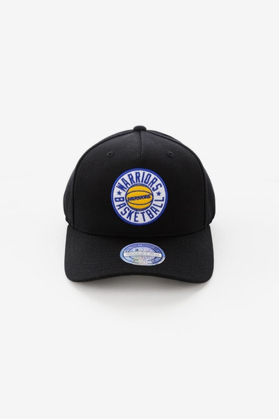 Mitchell & Ness Golden State Warriors Full Court Logo 110 Flex Snapback Black