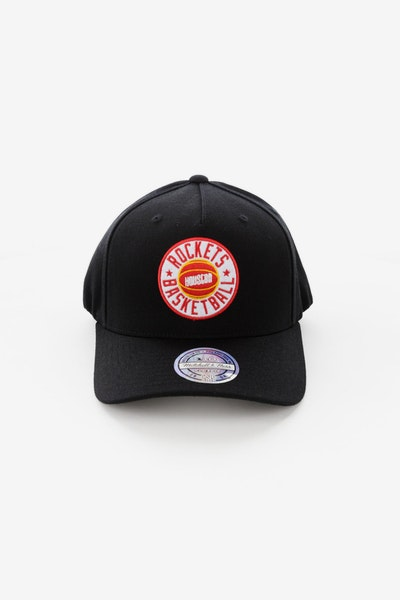Mitchell & Ness Houston Rockets Full Court Logo 110 Flex Snapback Black