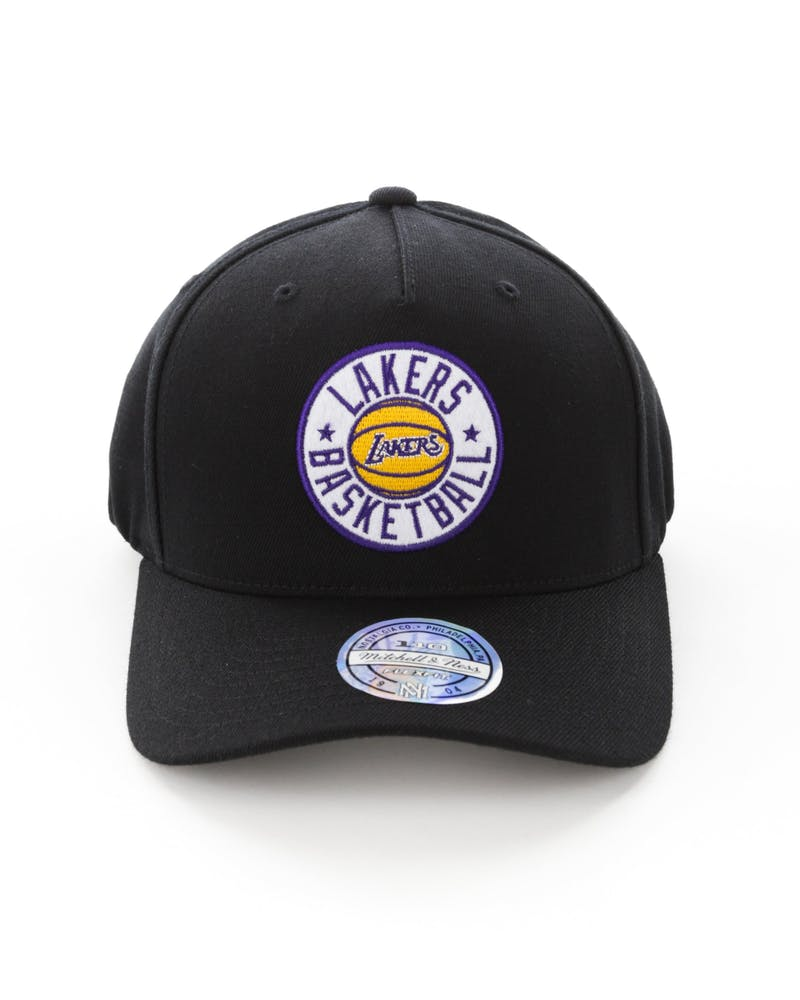 Mitchell & Ness Los Angeles Lakers Full Court Logo 110 Flex Snapback Black