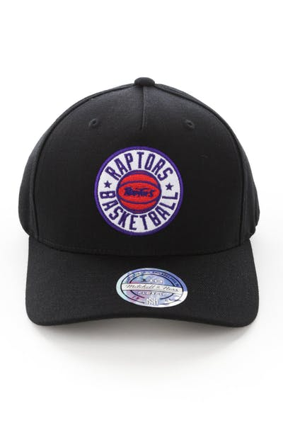 Mitchell & Ness Toronto Raptors Full Court Logo 110 Flex Snapback Black