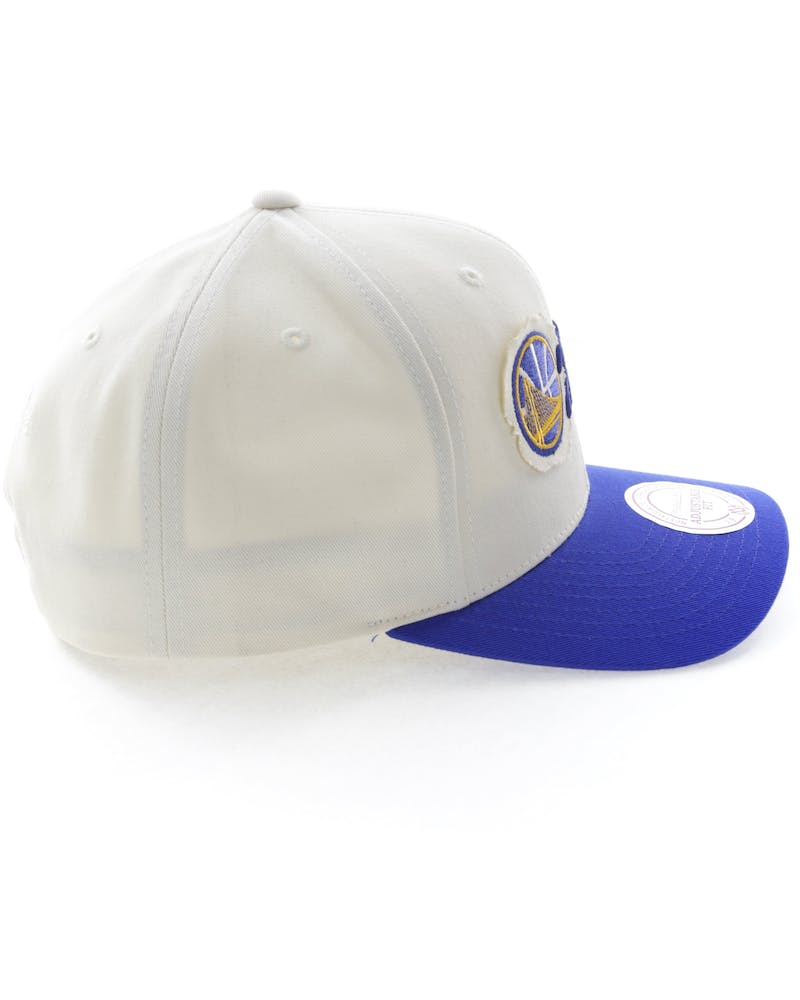Mitchell & Ness Golden State Warriors Vintage 110 Snapback Vintage Off White