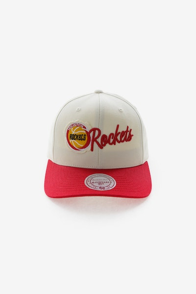 Mitchell & Ness Houston Rockets HWC Vintage 110 Snapback Vintage Off White