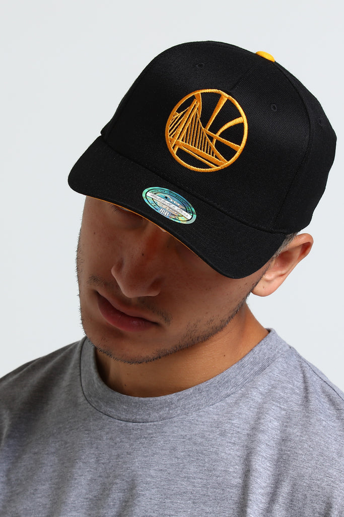 hot sale online 1b106 fcc1f ... low price mitchell ness golden state warriors outline 110 snapback  black yellow 78917 05780