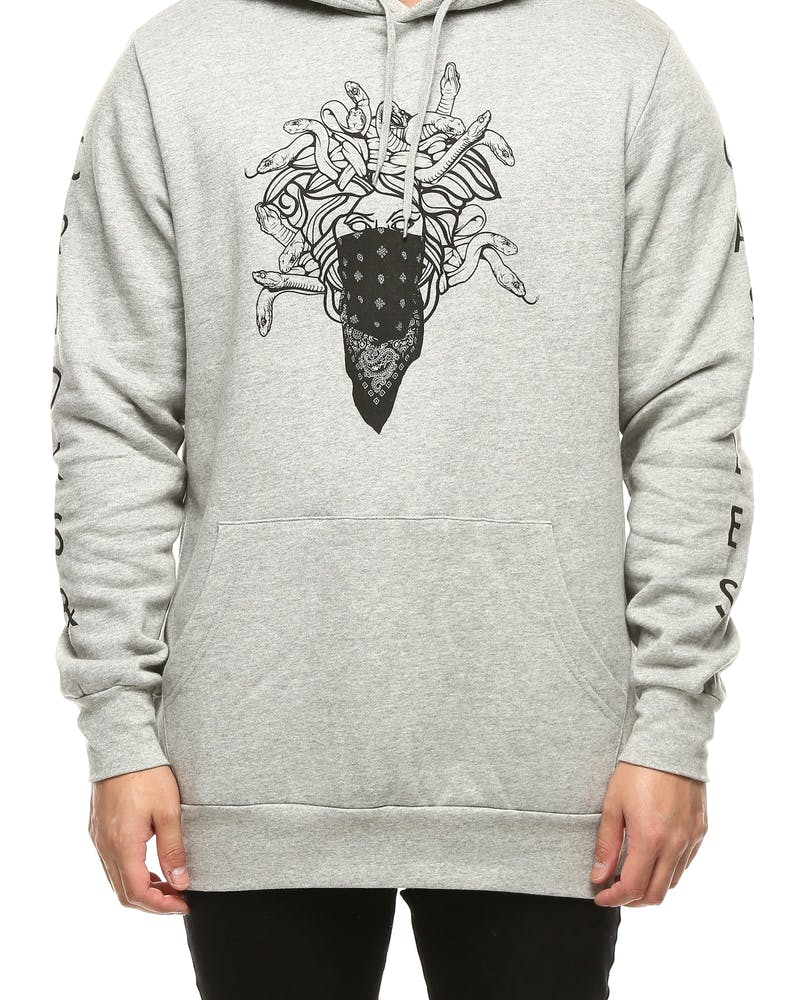Crooks & Castles Ghostin Knit Hooded Pullover Heather Grey