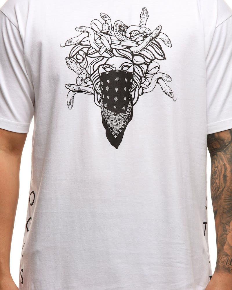 Crooks & Castles Ghostin Knit SS Tee White/Black