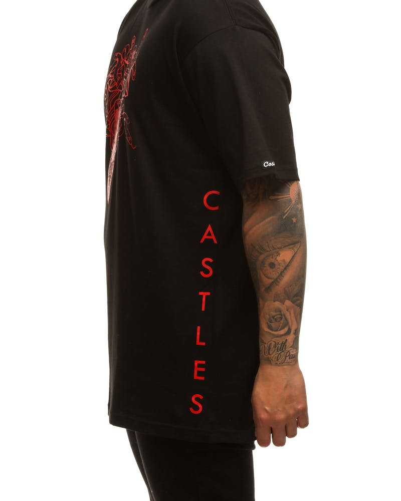 Crooks & Castles Ghostin Knit SS Tee Black/Red